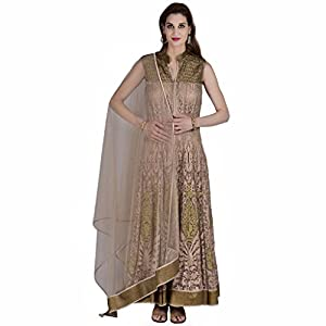Ashi's Net Lehenga Choli (ACG-D-006_Beige_Medium)