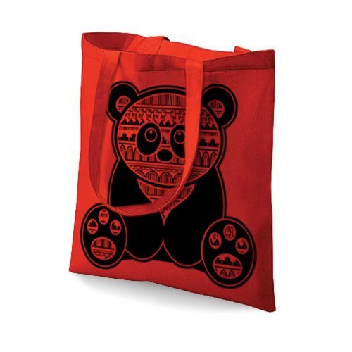 fürHoodiii bedruckt Tasche Fürs Leben Aztek Panda Klassisch Rosa