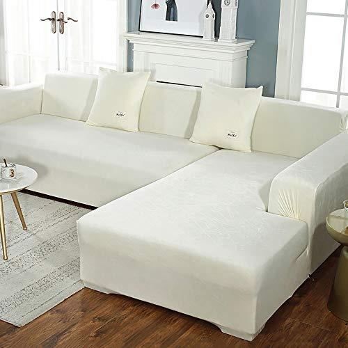 Dicke Sofabezüge 1/2/3/4 Sitzer Reine Farbe Sofaschutz Samt Easy Fit Elastisches Gewebe Stretch Couch Schonbezug 3 Sitzer: 195-230cm