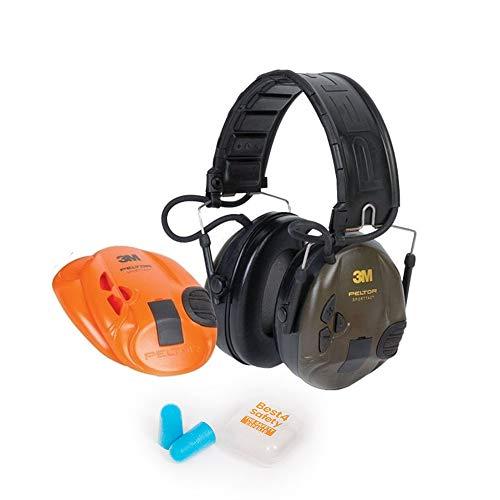 3M Peltor SportTac Elektronischer Gehörschutz | Auswechselbare Farbige Muscheln | Inklusive Ohrenstöpsel Extra Gehörschutz Für Ihre/Ihren Begleiter In