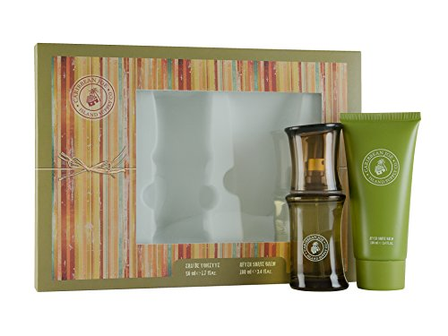 First American Brands Caribbean Joe Eau De Toilette 50 ml + 100 ml Dopobarba Balsamo Set regalo per lui, 1er Pack (1 x 50 ml)