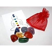 Chakra Heilung Balancing Kristall Tumblestone Set mit Reinigung Spray preisvergleich bei billige-tabletten.eu