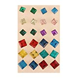 AccessHer Combo Multicolor Square Stone ...