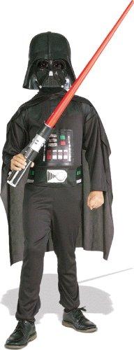 Star Wars   Disfraz de Darth Vader para niño, caja con disfraz, máscara y espada, 5 7 años (Rubie`s 41020 M)