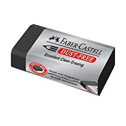 Faber Castell Pencil Eraser, DUST FREE (Excellent clean erasing)