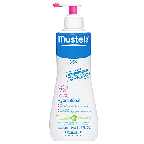 Mustela Hydra Baby Milch Body Lotion, Flasche mit Pumpe, 300 ml
