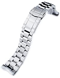 22mm Hexad Oyster 316L Stainless Steel Watch Band for Seiko SKX007, Submariner Diver Clasp