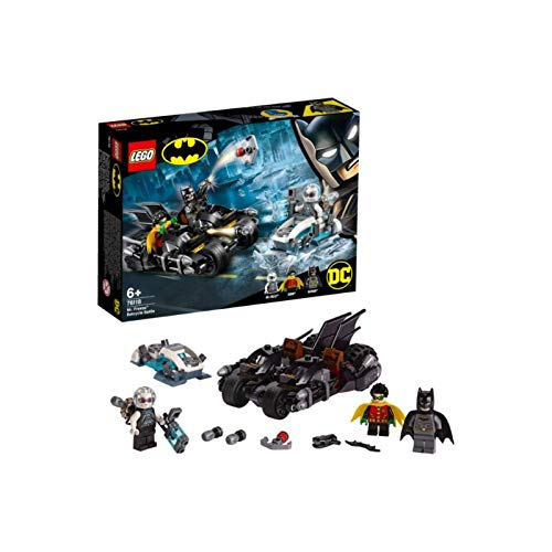 LEGO 76118 DC Batman Mr. Freeze Batcycle Battle, 2-in-1 Bike Set, Batman and Robin Cycle Chase Best Price and Cheapest
