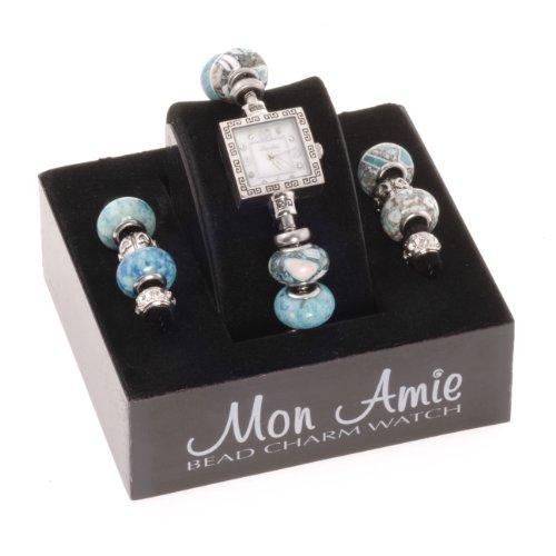 mon-ami-mujer-22515-cuadrado-tribal-azul-bead-reloj