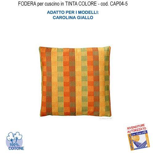 Carolina Kissen (Kissenbezug in Uni-Kissen Farbe Carolina gelb CAP04-5)