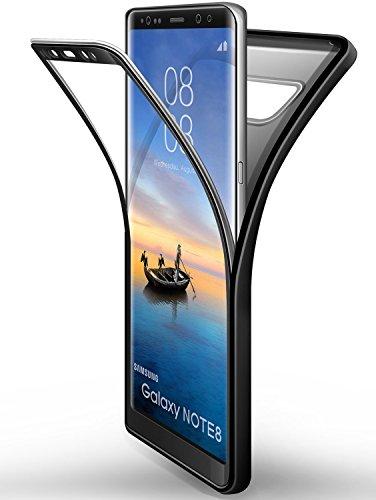 Funda Samsung Galaxy Note 8 Negro, ivencase Carcasa TPU [No Screen Protector]...