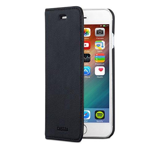 Schwarz Klappen (iPhone 6 / 6s Flip Case Schwarz - CASEZA