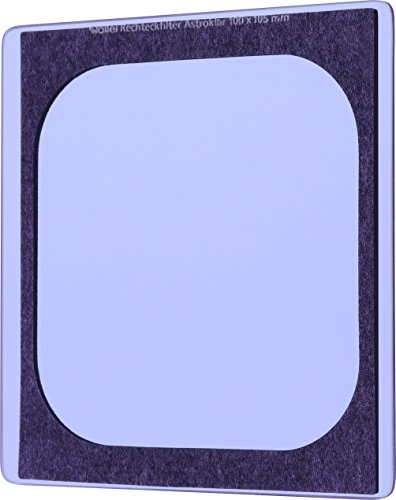 Rollei Astroklar Light Pollution Rechteckfilter 100 mm - hochwertiger Nachtlicht Filter (100x105 mm) für Astrofotografie und Nachtaufnahmen, effektive Reduzierung der Lichtverschmutzung und mit doppelseitiger Nanobeschichtung
