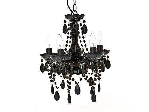 Present Time lampadario Chandelier Gypsy, a 5 braccia, Plastica, nero, E14 25 wattsW