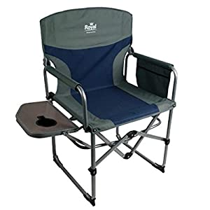 41uGc5DjSkL. SS300  - Royal Compact Folding Directors Chair with Table | Blue/Silver