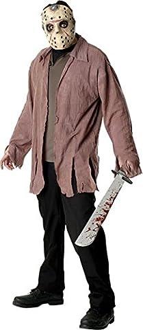Freitag der 13. Jason Voorhees Herrenkostüm, Größe:M/L (Jason Kostüm Freitag Der 13.)