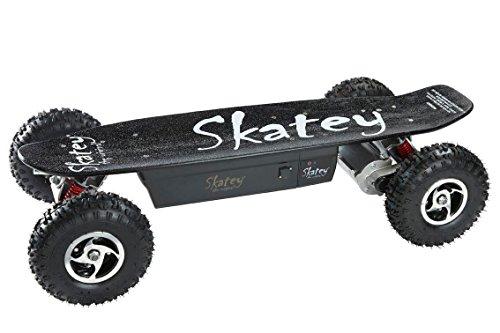 SKATEY 800W red white OFFROAD Elektrisches Longboard elektrisches Skateboard -