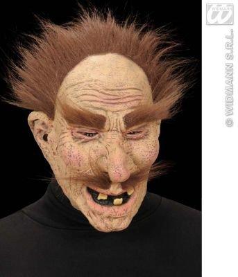 Opa mit Schurrbart Alter Mann braune Haare Maske Faschingsmaske