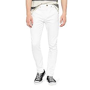 Amazon-Marke: find. Herren Slim Jeans Fnd0001am, Weiß (White), 36W / 32L, Label: 36W / 32L
