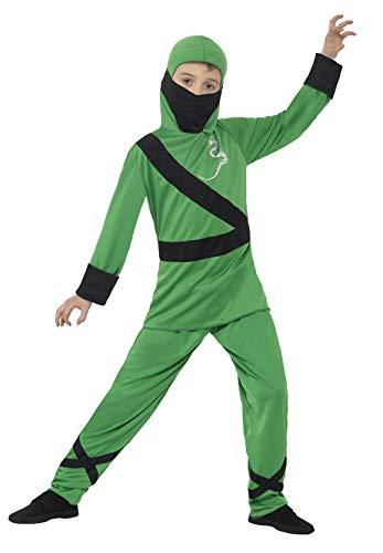 Smiffys 21077L - Kinder Jungen Ninja Assassin Kostüm, Kapuze, Maske, Oberteil und Hose, Alter: 10-12 Jahre, mehrfarbig
