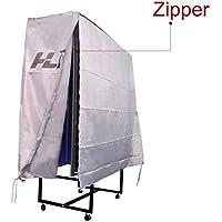 HLC Cubierta Protectora PVC para Mesa de Ping Pong(160x80x150 cm),Color Plateado