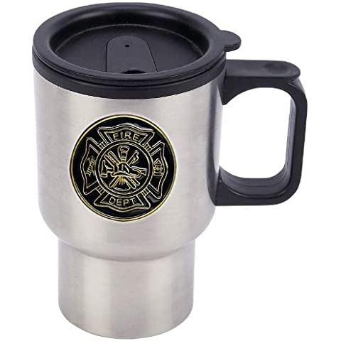 SS TRAVEL MUG with FIRE DEPT EMBL by