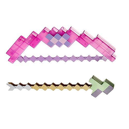 Zantec Juguetes para Minecraft para Niños Regalos-2 en 1 Creative Transmutative Bow Sword Armas Modelo
