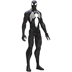 Marvel Ultimate Spider-Man Titan Hero Series Black Suit Spider-Man Figure - 12 Inch by Spider-Man