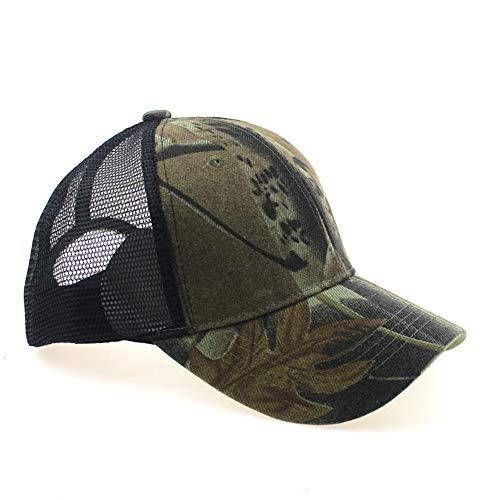 zhuzhuwen Outdoor Camouflage Baseball Cap Männer und Frauen Dschungel Klettern Mode Sonnenschirm Hut atmungsaktiv Mesh Cap Cap 2 56-62cm