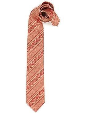 Trachten Krawatte - ORNAMENT-STREIF - rot