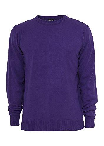 Urban Classics TB402 Knitted Crewneck Felpa Girocollo Uomo Regular Fit (Purple, L)