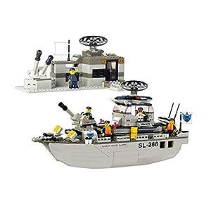 SLUBAN BRICKS, Army Patrulla Marítima 449 Piezas Juegos de construcción (AJ 1)