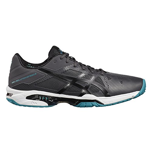 Asics Gel-Solution Speed 3, Scarpe da Ginnastica Uomo Grigio (Dark Grey/Black/Lapis)