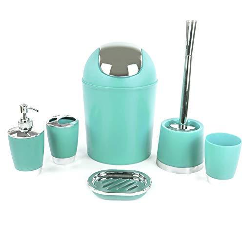 29fef95253b94 Ensemble d'accessoires de salle de bains 6, distributeur de lotion,