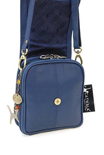 Catwalk Collection Handbags, Borse tascapane, Donna Blu medio