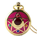 Taschenuhr für Mädchen, Vintage-Stil, bunt, Anime Sailor Moon Serie, Damen-Taschenuhr, Geschenk für Männer