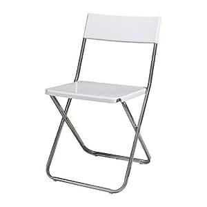 IKEA JEFF Klappstuhl weiß Stuhl Küchenstuhl