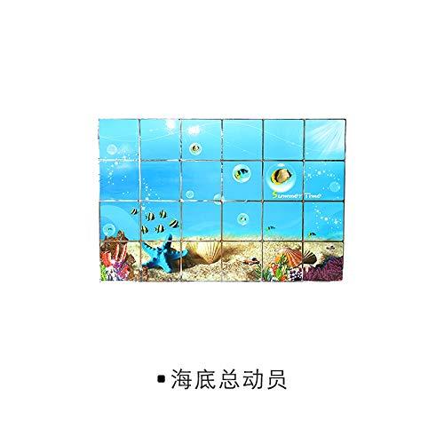 3D Wandtattoo Wandtattoo Schlafzimmer Wandstickerneue Produktgröße 60 * 90 Anti-Öl-Aufkleber Küche Wand Aufkleber Hochtemperatur-Aluminium-Folie Frucht Unabhängig Südo (Früchte-wand-aufkleber)