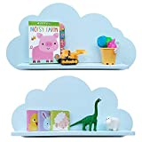 Étagères En forme de nuages pour une chambre d'enfant (paire - 2x étagères) Étagères flottantes - Étagères pour chambre d'enfant - Meubles - Ameublement - Disponible en BLANC ou BLEU ou ROSE (Bleu)