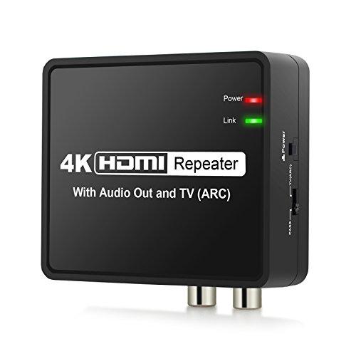 eSynic HDMI ARC Audio Extractor 4Kx2K HDMI auf HDMI Optische TOSLINK SPDIF L/R Stereo Audio Konverter unterstützt Full HD 1080P Hdmi Coax