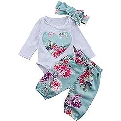 Niña Invierno 2 pcs Conjuntos Bebé Niña Recién Nacido Otoño Pijama Blusa T-Shirt Bebé Manga Larga Camisa Primavera + Pantalones Flor