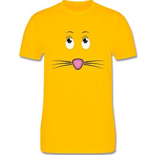 Sonstige Tiere - Maus Gesicht Mouse - Herren Premium T-Shirt Gelb