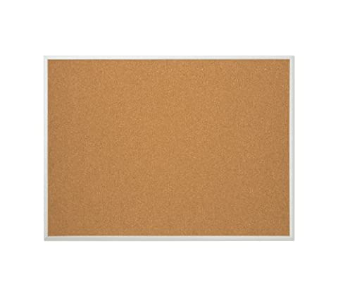 Quartet Cork Bulletin Board, Aluminum Frame, 17 x 23 Inches (85112B) by Boone International