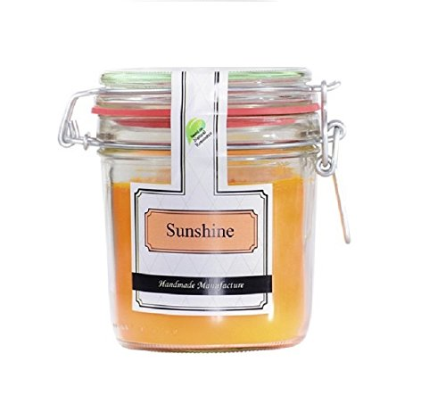 Parfüme Boutique 1106372SU Vintage Duftglas - L - Sunshine Duftkerze im Vintage Glas, Orange, 13 x 13 x 12 cm
