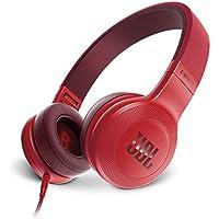 JBL E35 On-Ear Leicht Kopfhörer im Faltbaren Design mit 1-Tasten-Fernbedienung und Abnehmbarem Mikrofonkabel - Rot