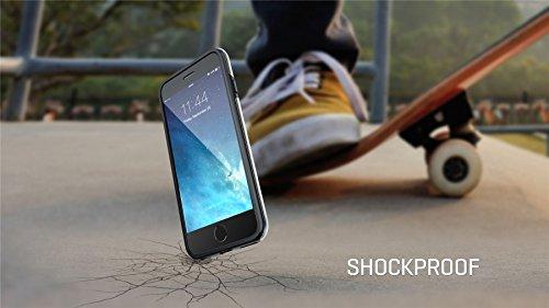 iPhone 6 6s Plus 14 cm haltbare dünne stoßfeste Schutzhülle Cover / Case / Hülle / Fall Soft Slim TPU-Bumper , True Color® Mini-Pünktchen gedruckt auf transparentem Hybrid Cover Hartschale - Schwarz m Mini-Pünktchen Schwarz mit weißem Rand