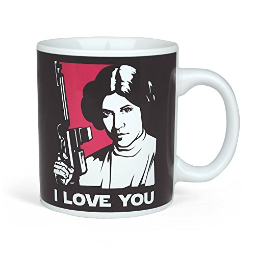 Star Wars Tasse Han Solo u Prinzessin Leia lizenziert in Geschenk Box für Sci-Fi Fans 320ml (Wars Star Solo Von)