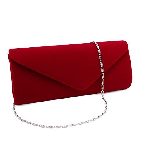 Multi-mo, Borsetta da polso donna rosso Red Red