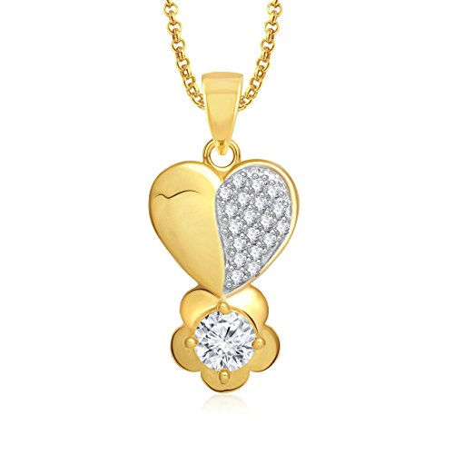 Valentine Gifts MEENAZ PENDANT SOLITAIRE HEART SHAPE LOCKET FOR GIRLS AND WOMEN VALENTINE WIT...