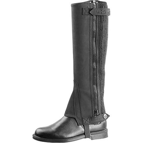 United Sportproducts Germany USG 15513 - Chaparreras para equitación (talla XXXS), color negro